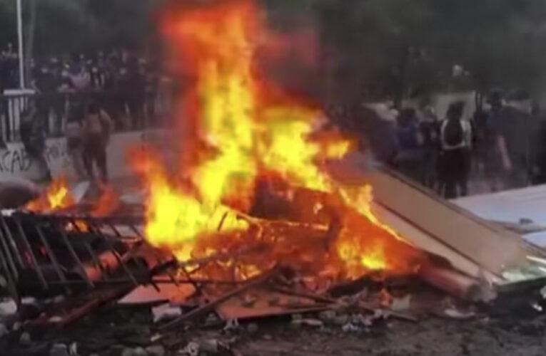Disturbios en chile por primer aniversario de estallido social