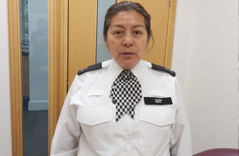 Rosa Dimaté habla del trabajo que desempeña la policía para el cumplimiento de nuevas medidas por coronavirus