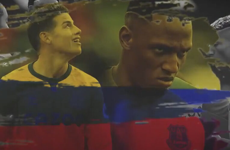 Everton rinde homenaje a James Rodríguez y Yerry Mina por la buena campaña