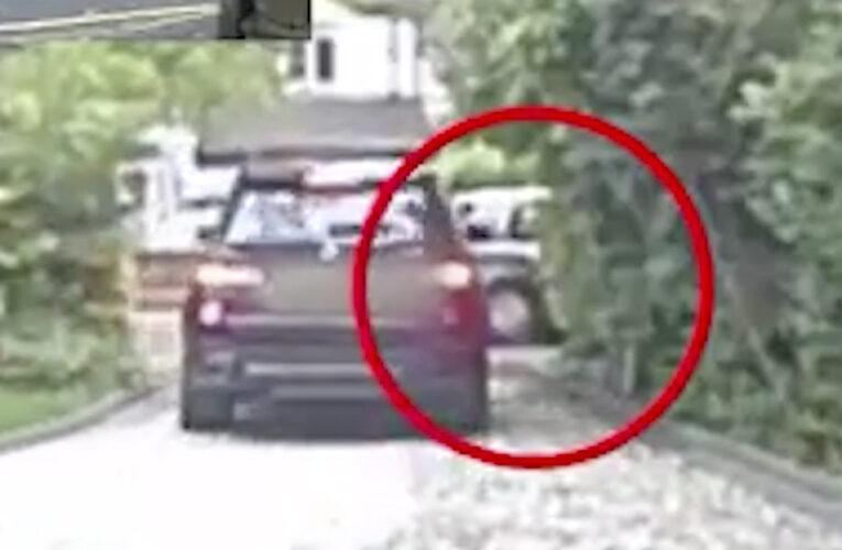 Violenta banda de ladrones de autos captada en cámara en el U.K.