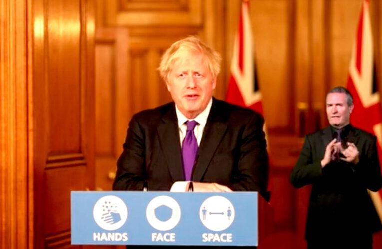 """""""El NHS se ha estado preparando para el mayor programa de vacunación masiva en la historia del Reino Unido"""": Boris Johnson."""
